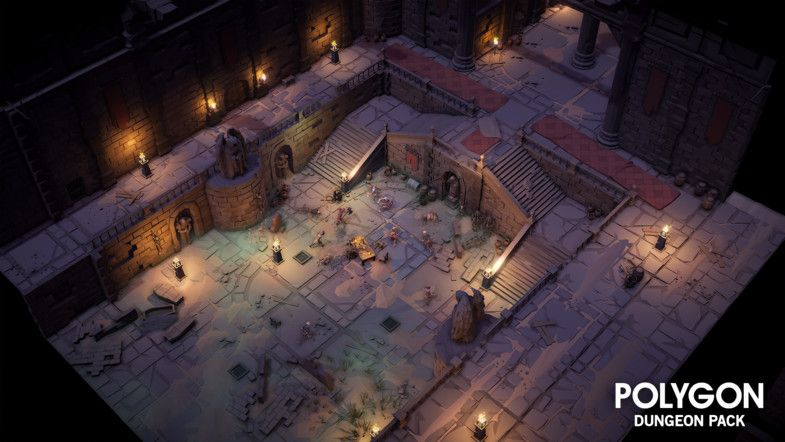 An Epic Low Poly asset pack of characters, props, weapons and environment assets to create a Fantasy themed polygonal style game. Modular sections are easy to piece together in a variety of combinations. Includes a big demo scene (Character poses indicative only) - Modular Interior castle Set - Modular Interior cave Set - Modular Goblin Camp Set - Modular Basement Set - Modular Sewer Set - Multiple Dungeon entrances - Alternate materials for dust, moss, snow, and lava 770 unique assets wi...