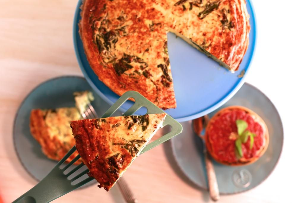 Spinach and Ricotta Frittata.