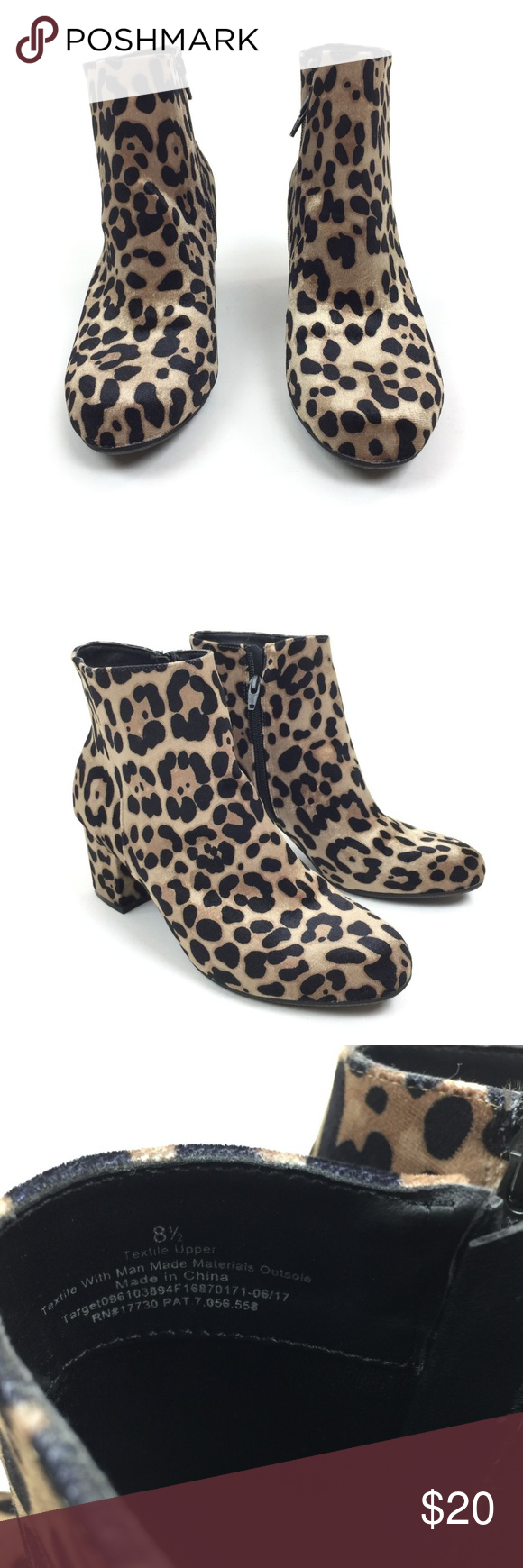 334de88f3308 A New Day leopard print side zip ankle boots A New Day leopard print side  zip ankle boots. Women's size 8.5, gently used with no flaws. a new day  Shoes ...