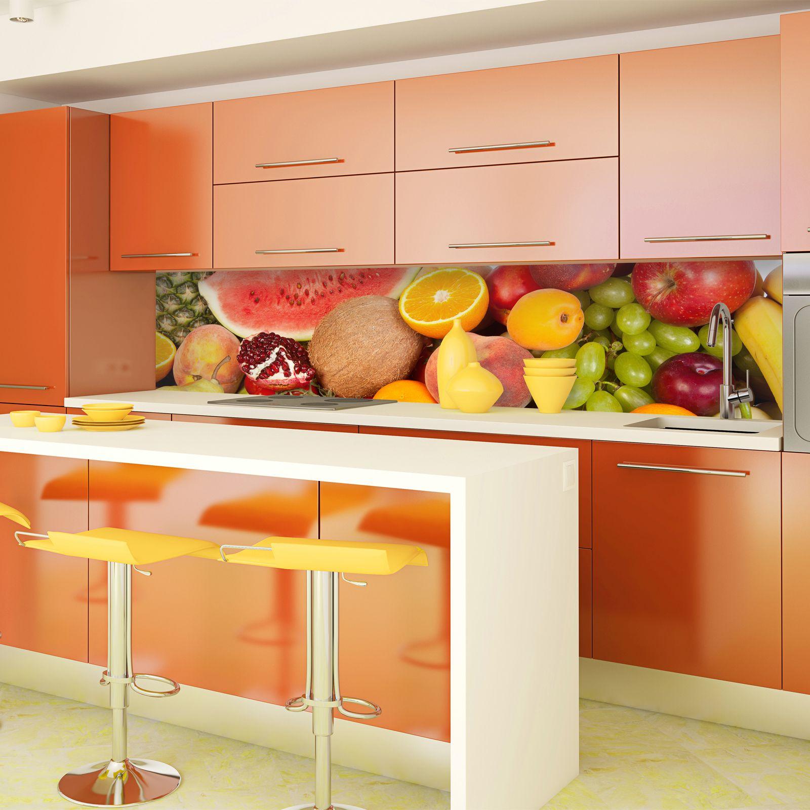 Kitchen Tiles Fruit Design new york skyline (day) acrylic kitchen splashback | enhance your
