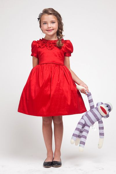 little girls party dress - red | children - clothing - formal ...