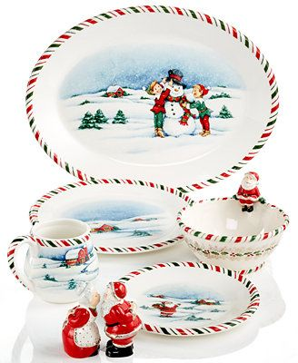 Kathy Ireland Once Upon A Christmas Dinnerware Collection - Serveware - Dining \u0026 Entertaining - Macy\u0027s  sc 1 st  Pinterest & kathy ireland Once Upon A Christmas Dinnerware Collection available ...