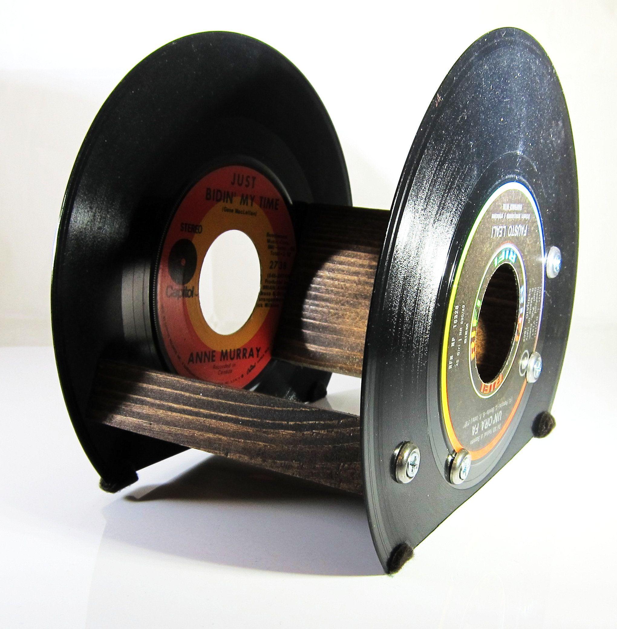 Ceramic Tile Holder Cd Holder Recycled 45 Records Dvd Holder