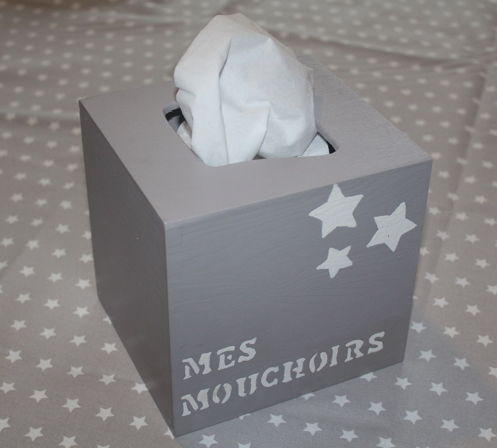 Boite mouchoirs carr e mes mouchoirs d coration - Deco boite a mouchoir ...