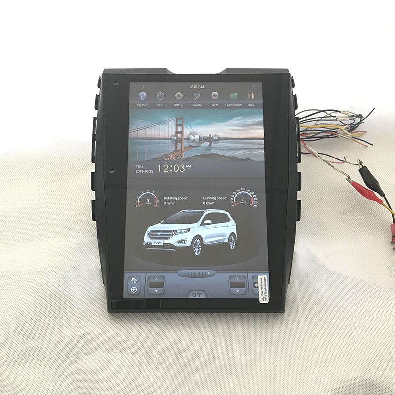 Tesla Vertical Screen Indash Auto Navigation Multimedia Stereo With Android   Os For Ford Edge New Wechat Whatsapp Viber Line