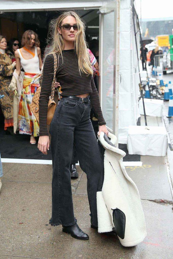 Photo of High Waisted Jeans Outfit x 2 – Candice Swanepoel Street Style | Types of Jean Fits