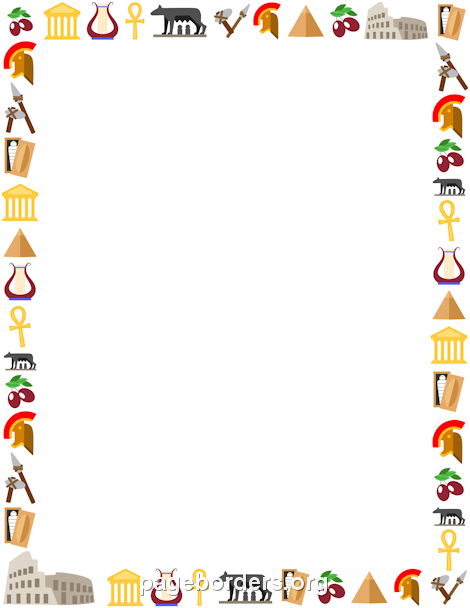 Printable history border. Free GIF, JPG, PDF, and PNG downloads at http://pageborders.org/download/history-border/