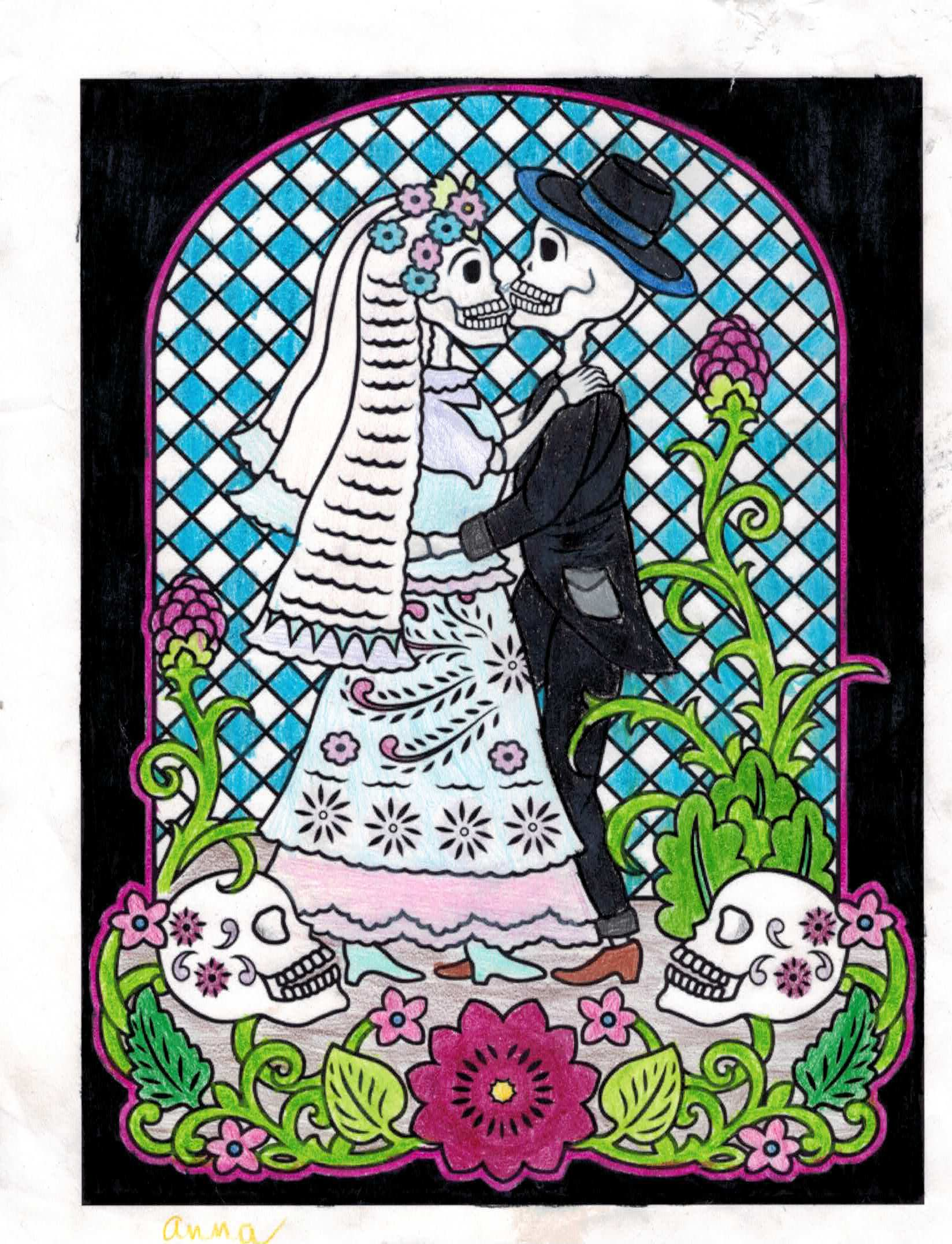 Anne (Under 12 division) from Mexican Designs Stained Glass Coloring ...
