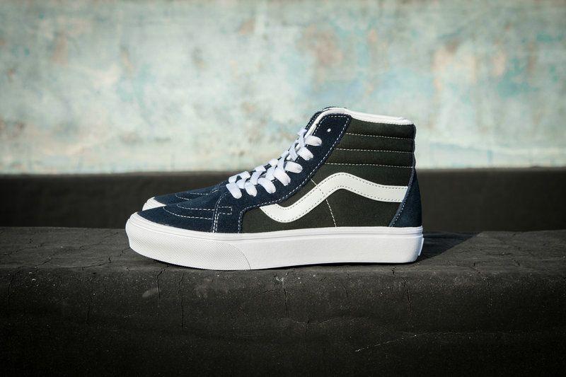 Vans Sk8 Hi Blue Green Vn0a2xsbqx1 Skateboard Shoe Vans For Sale Vans Vans High Top Sneaker Vans Sk8 Vans
