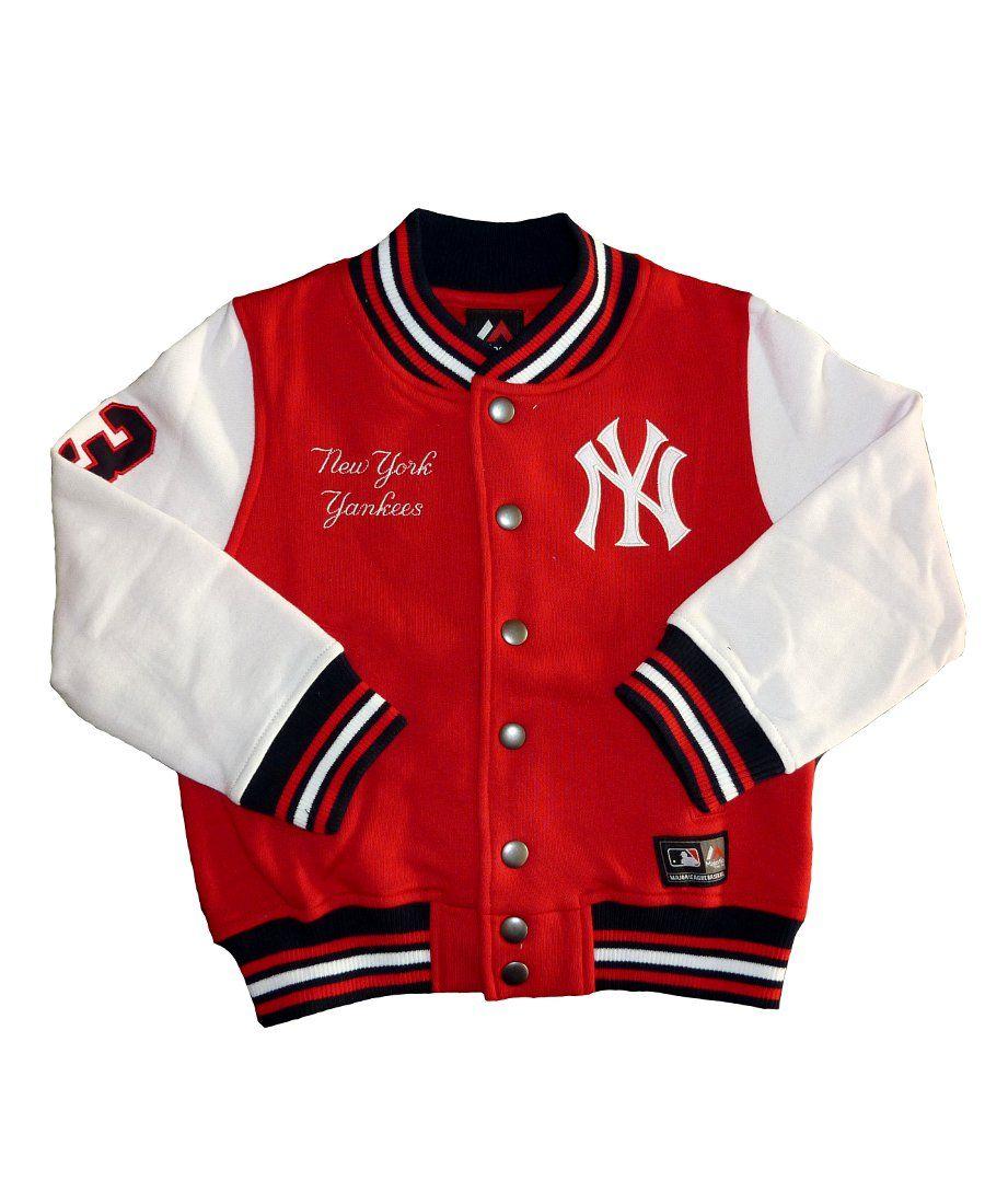 3c3246b8f Majestic MLB NY Yankees Varsity Jacket - Red. 3-7 years. £37.99 | Ny ...
