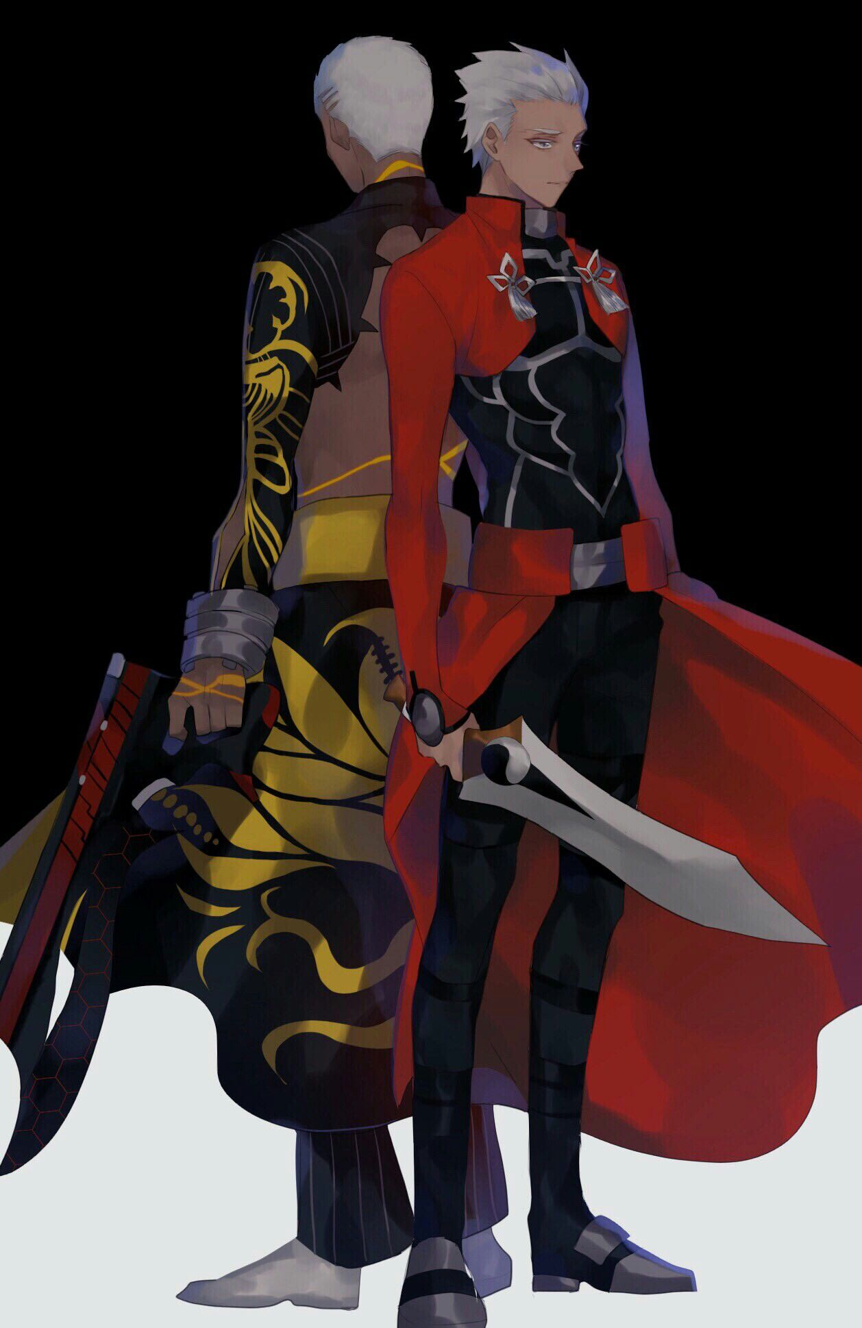 Emiya Archer Emiya Alter Fate Archer Fate Stay Night Fate Anime Series Despite emiya (alter)'s relatively low base atk stat, he is able to output excellent damage when the situation calls for it through projection, icy sneer and his independent action passive. emiya archer emiya alter fate