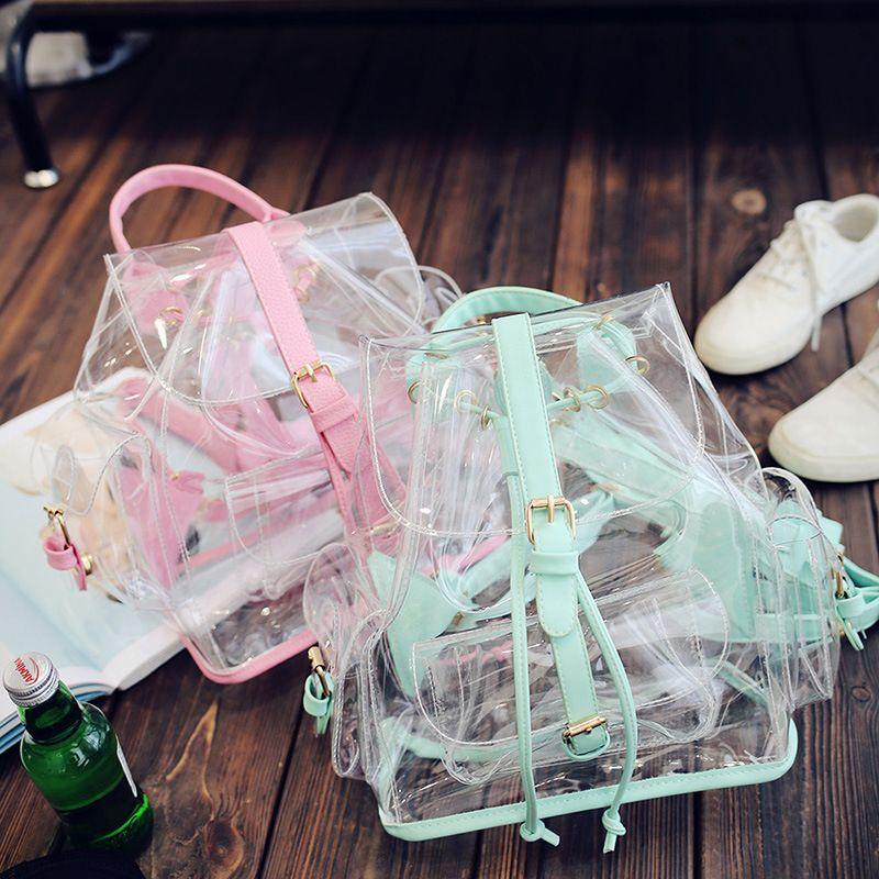 2017 New Hot Fashion Women Female Lovely Transparent Jelly Bag Casual Cute Pink Green Mini Handbags Shoulder Bags Messenger Bag #Affiliate