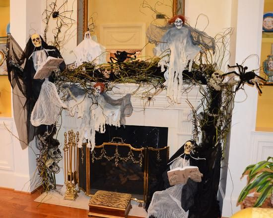 Halloween decorations  IDEAS  INSPIRATIONS Halloween mantle
