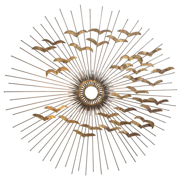 """42"""" Curtis Jere Sunburst Sculpture 
