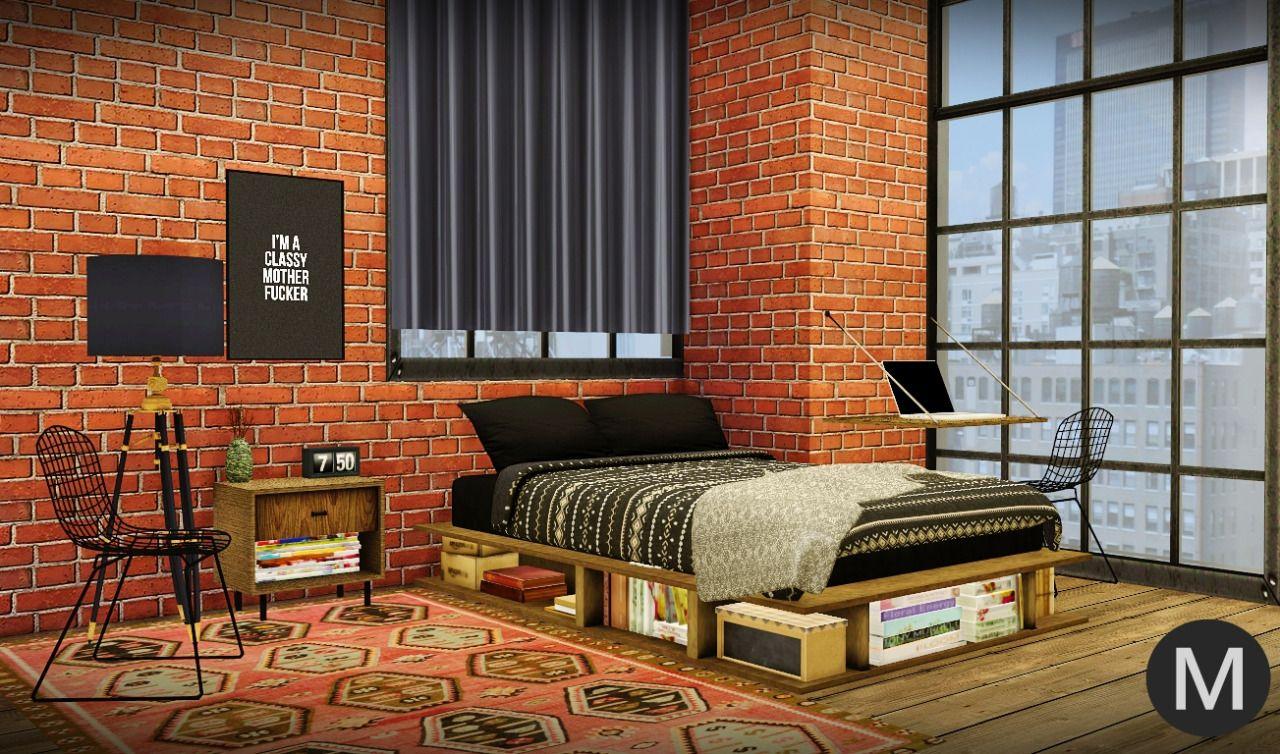 Maxims S 3t4 Ms91 Industrial Rustic Bedroom Rustic