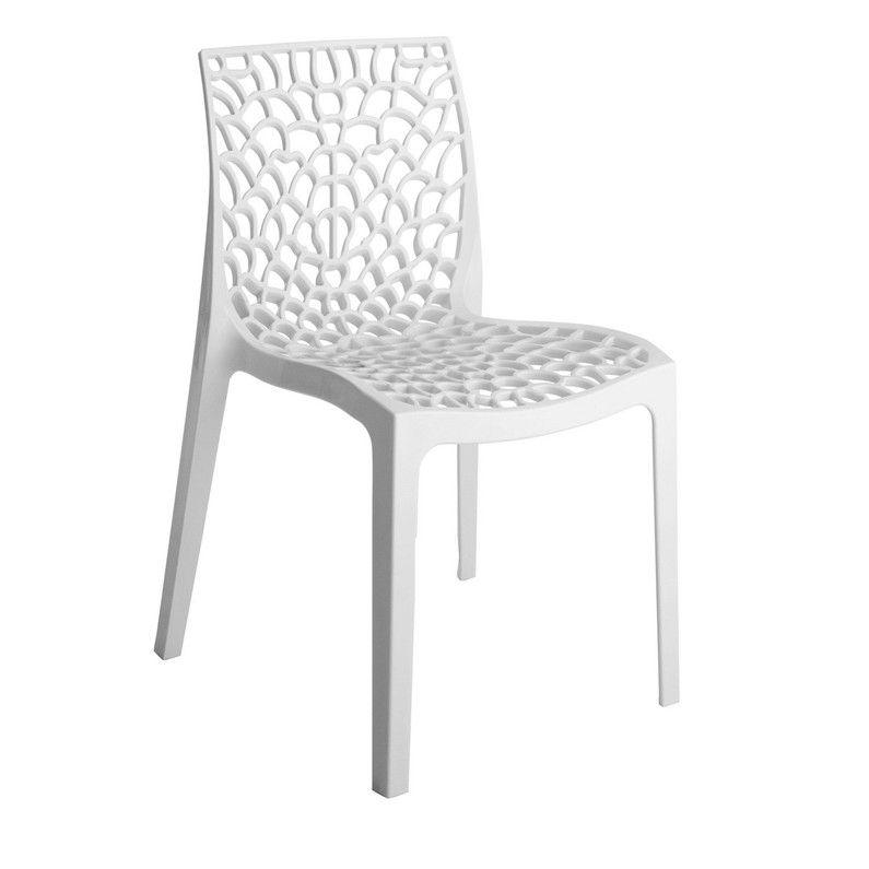 Chaise de jardin en résine Grafik blanc | #Déco I love my