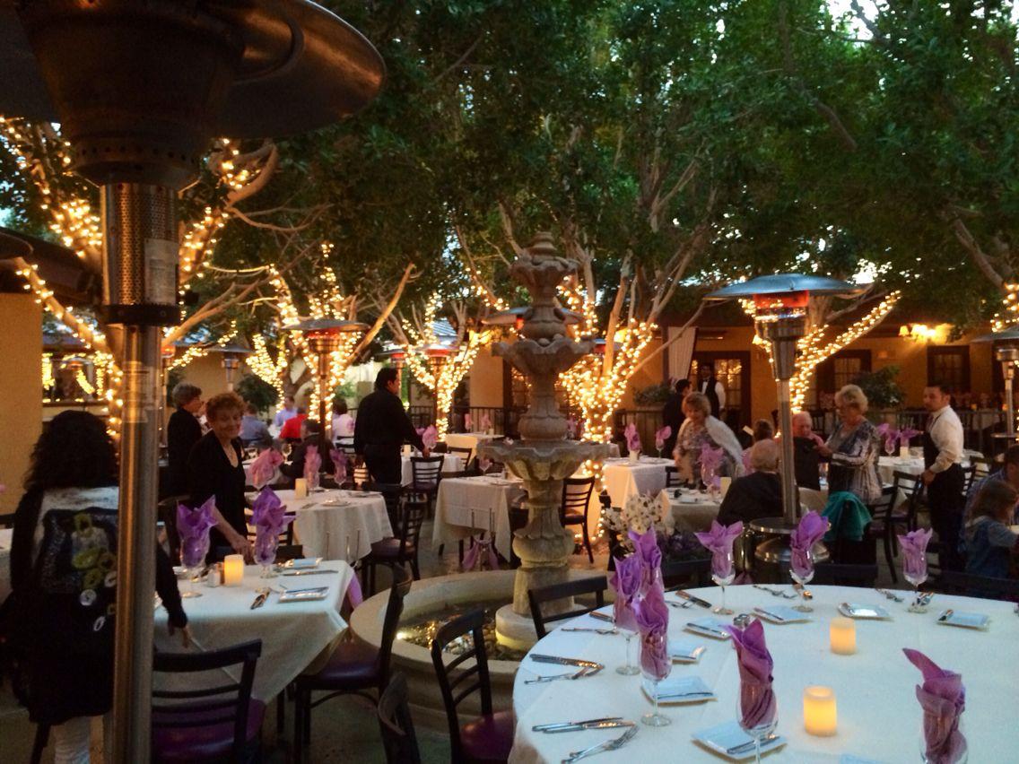 Outdoor dining at La Quinta's Lavender Bistro...