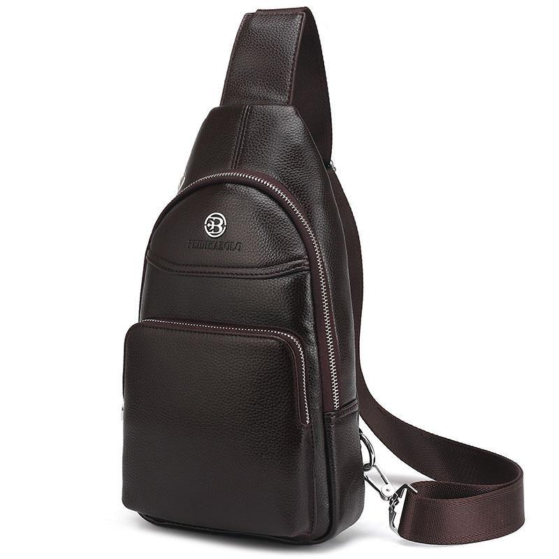 da24627083 Men Bag Summer High Capacity Chest Bag Man Travel Chest Pack Leather Men  Crossbody Bag Designer Male Shoulder Bags