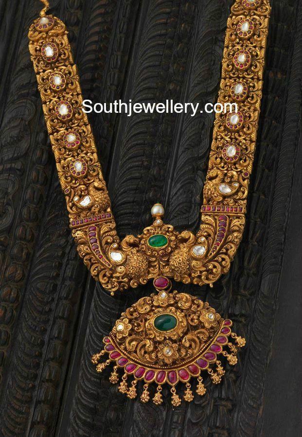 Heavy Antique Gold Haram Gold Haram Bridal Jewelry