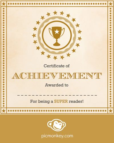 use picmonkey s editor to make your own award certificate for