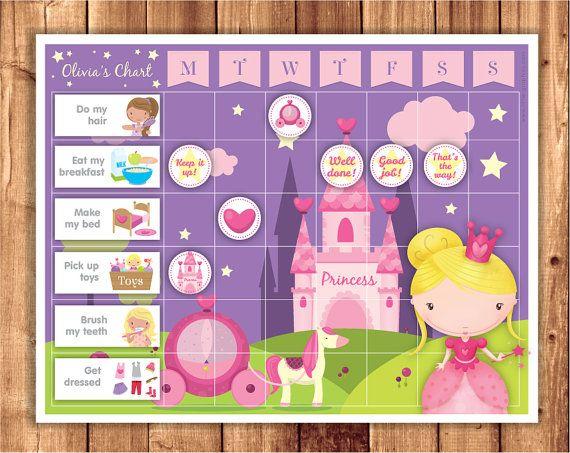 Chore Chart   Reward Chart   Printable Princess reward chart - printable rewards charts