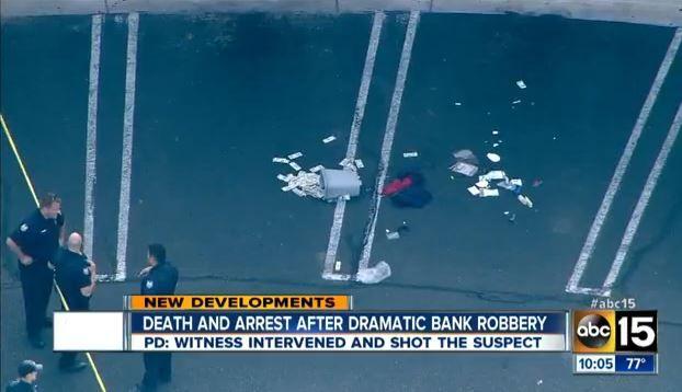 Bank Robbery Crime Scene