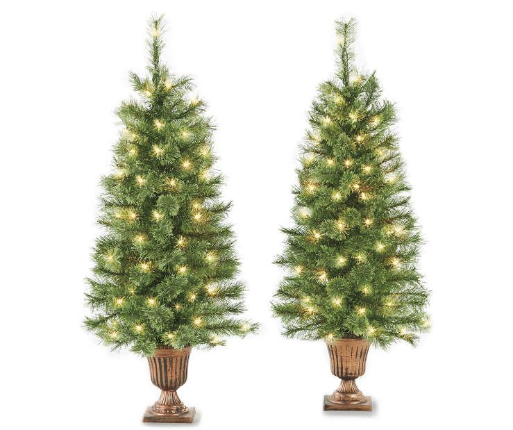 pre lit artificial urn trees cashmere with clear lights at big lots - Big Lots White Christmas Tree