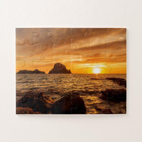 Puzzle de una puesta de sol en Es Vedra, Ibiza