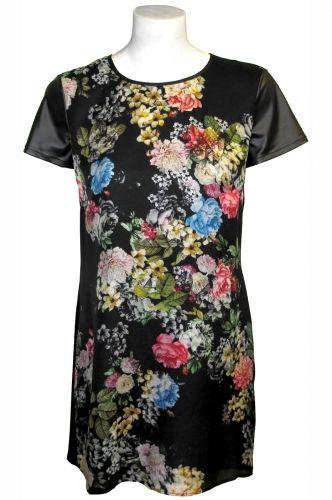 Winter Floral Shift #Dress 100% #Silk