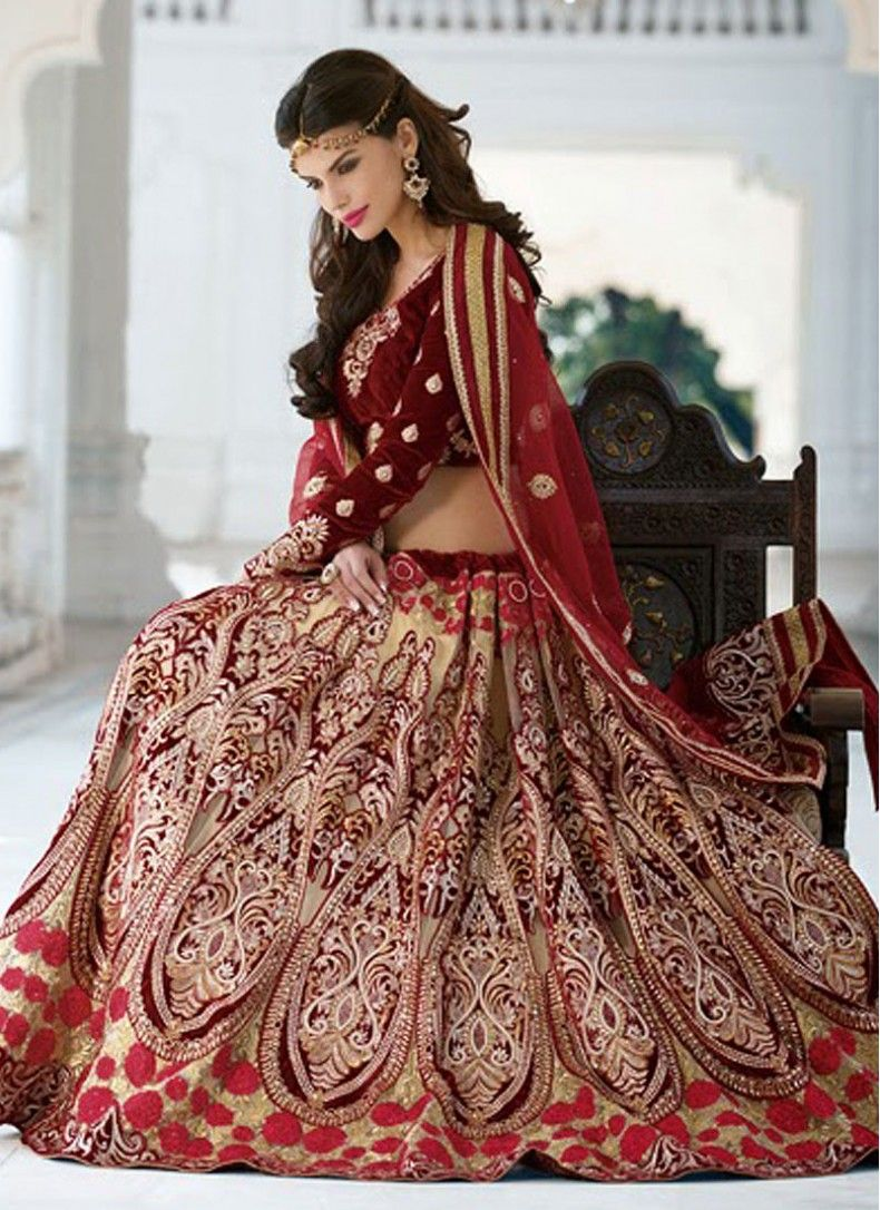 Bridal heavy embroidery red choli google search