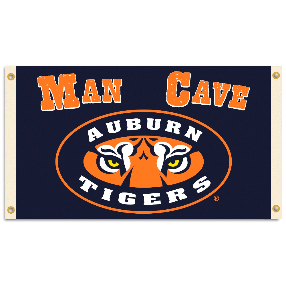 NCAA Auburn Tigers Man Cave Flag with 4 Grommets 3 x 5-Feet