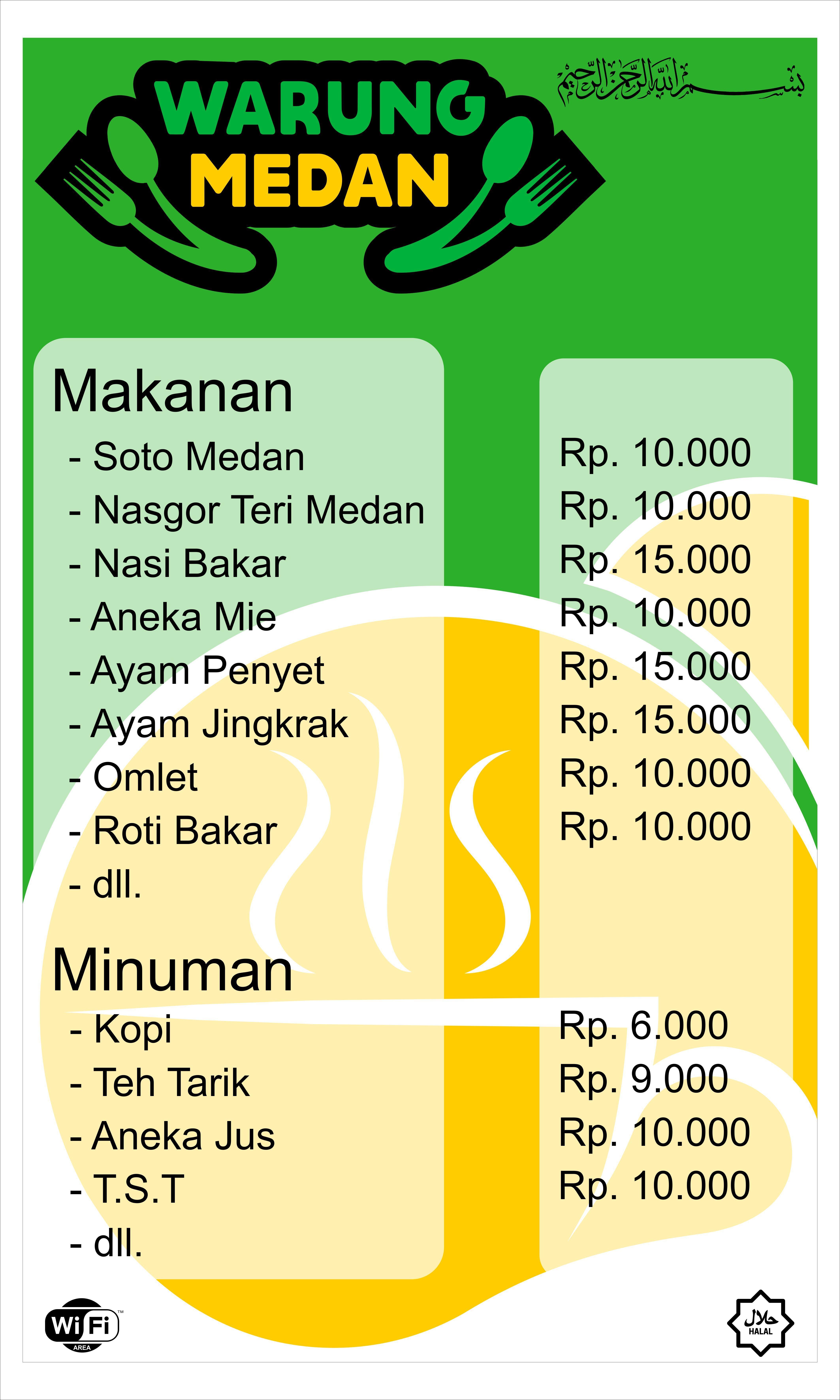 Desain banner daftar menu salah satu tempat makan di kota ...