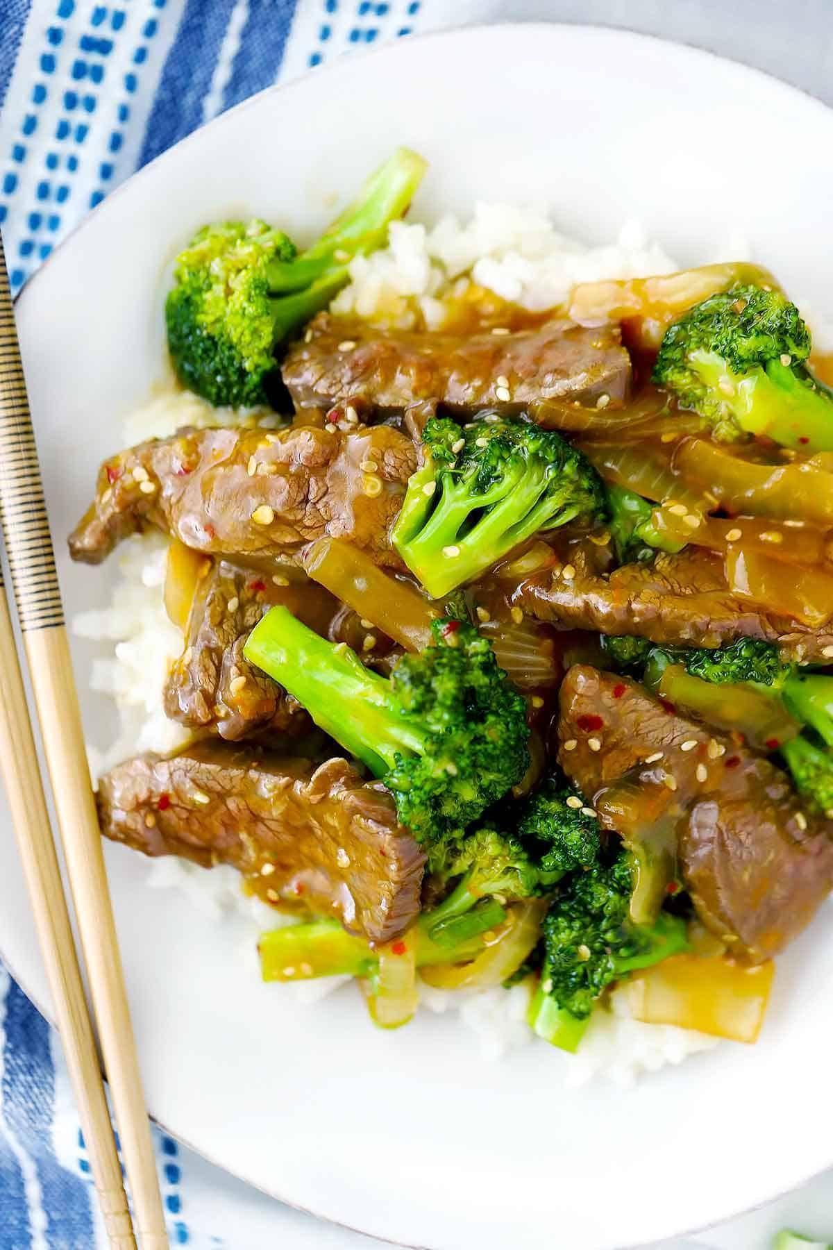 Easy Beef And Broccoli Recipe Broccoli Beef Broccoli Recipes Easy Beef And Broccoli