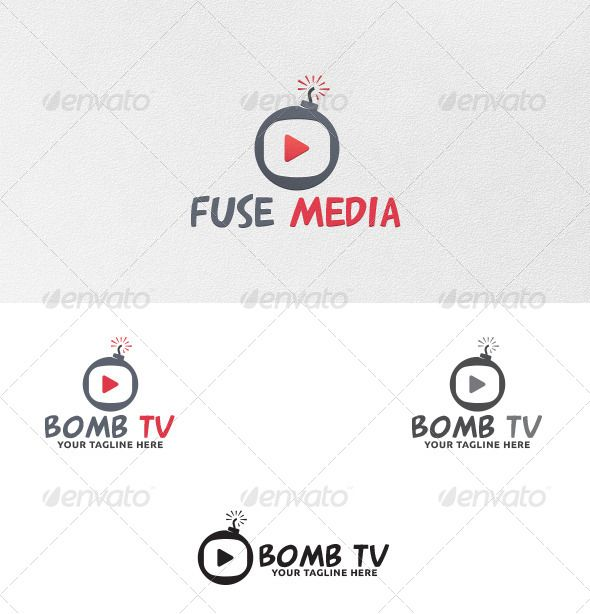 Bomb TV  Logo Template — Vector EPS #tnt #RDX • Available here → https://graphicriver.net/item/bomb-tv-logo-template/5535694?ref=pxcr