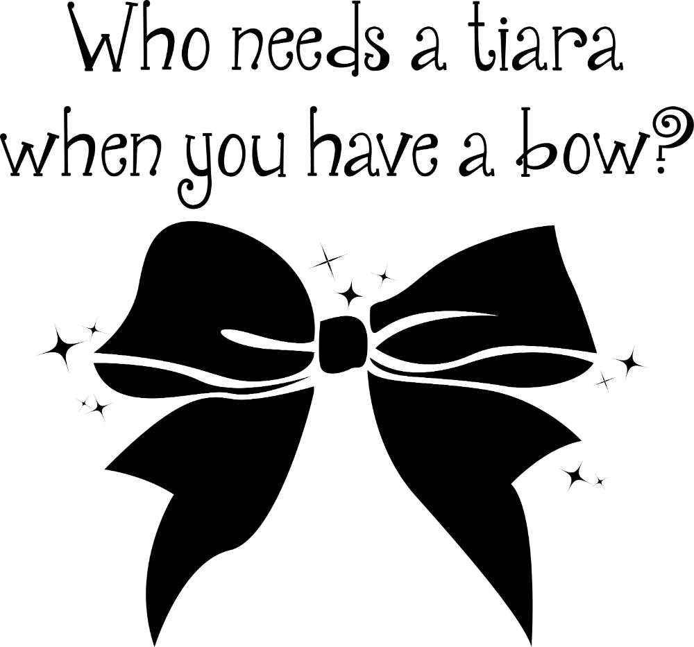 36++ Cheer bow clipart black and white information