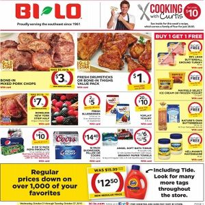 Weekly Sales Circular >> Bi Lo Weekly Ad Circular Specials Catalogue Handbill Weekly
