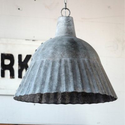 Fluted Galvanized Pendant Light Fixture #pendantlighting