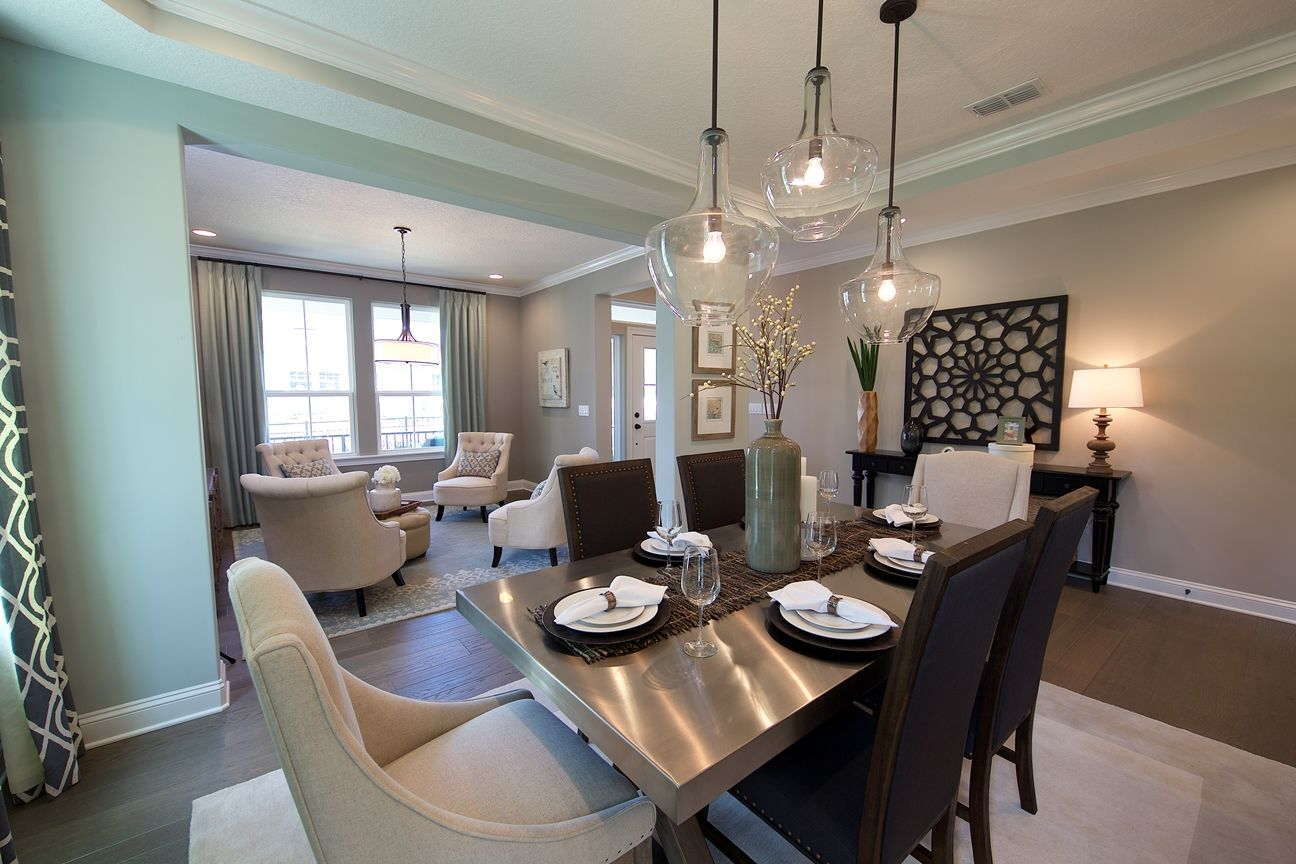 Model Home Dining Rooms Contemporary Dining Room Perfect For Entertaining  The Tradewind
