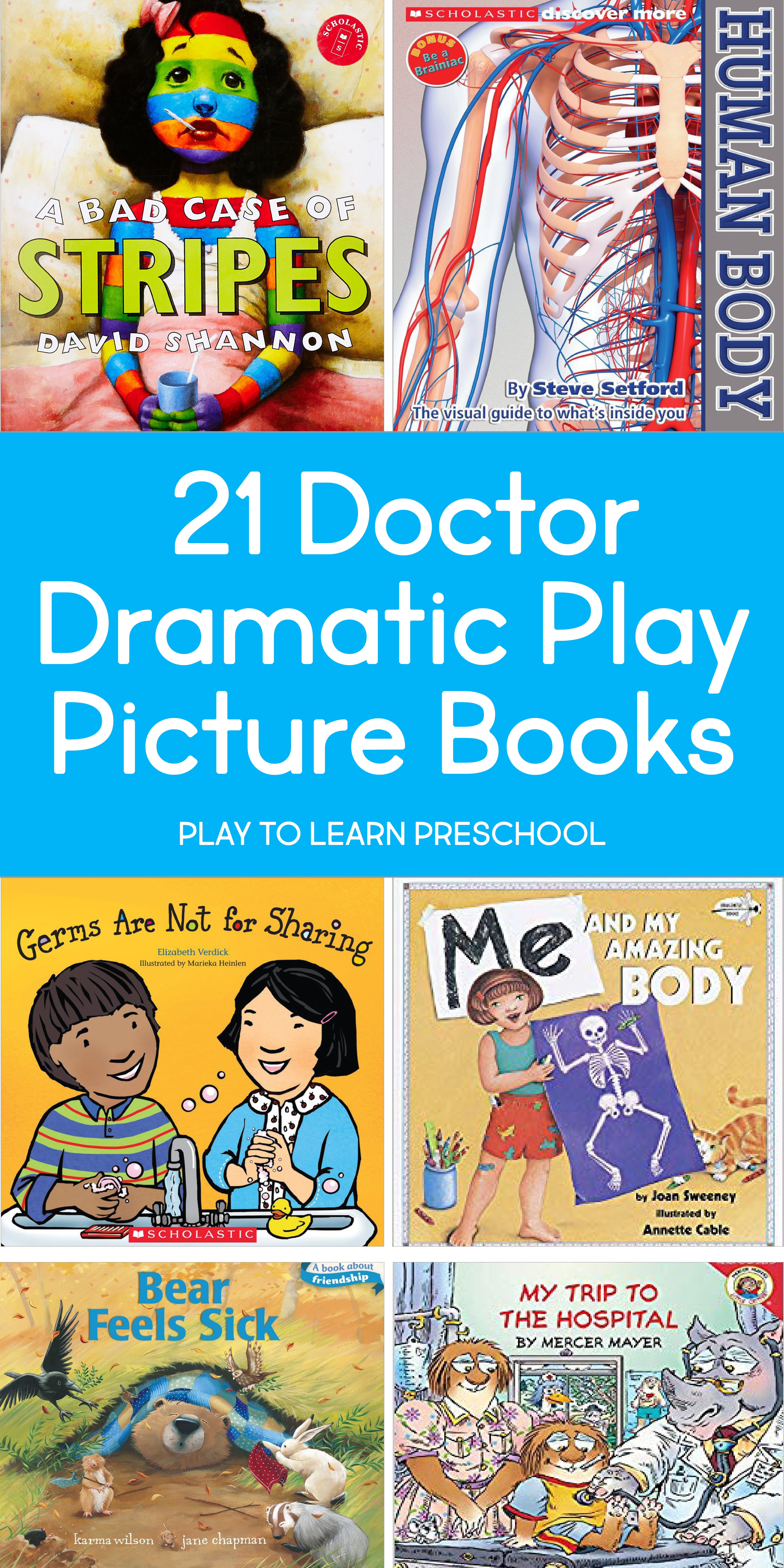 Doctor Books For Dramatic Play For Preschoolers