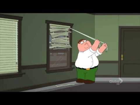 Peter Griffin Struggles Opening Window Blinds Familyguy
