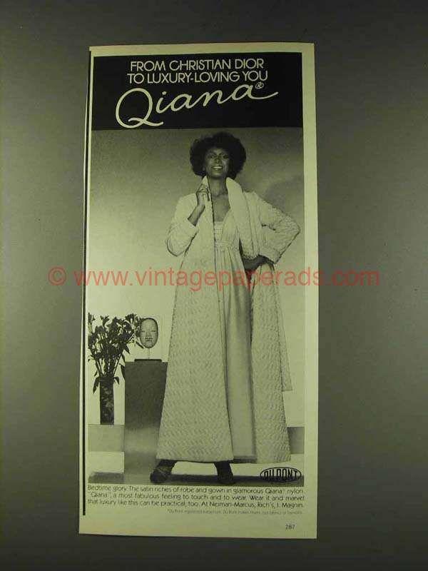 1979 Du Pont Qiana Nylon Christian Dior Robe & Gown Ad | Christian ...