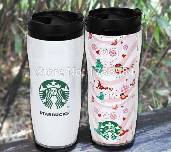 Double Wall Plastic Cup Change Paper Insert Mug Coffee