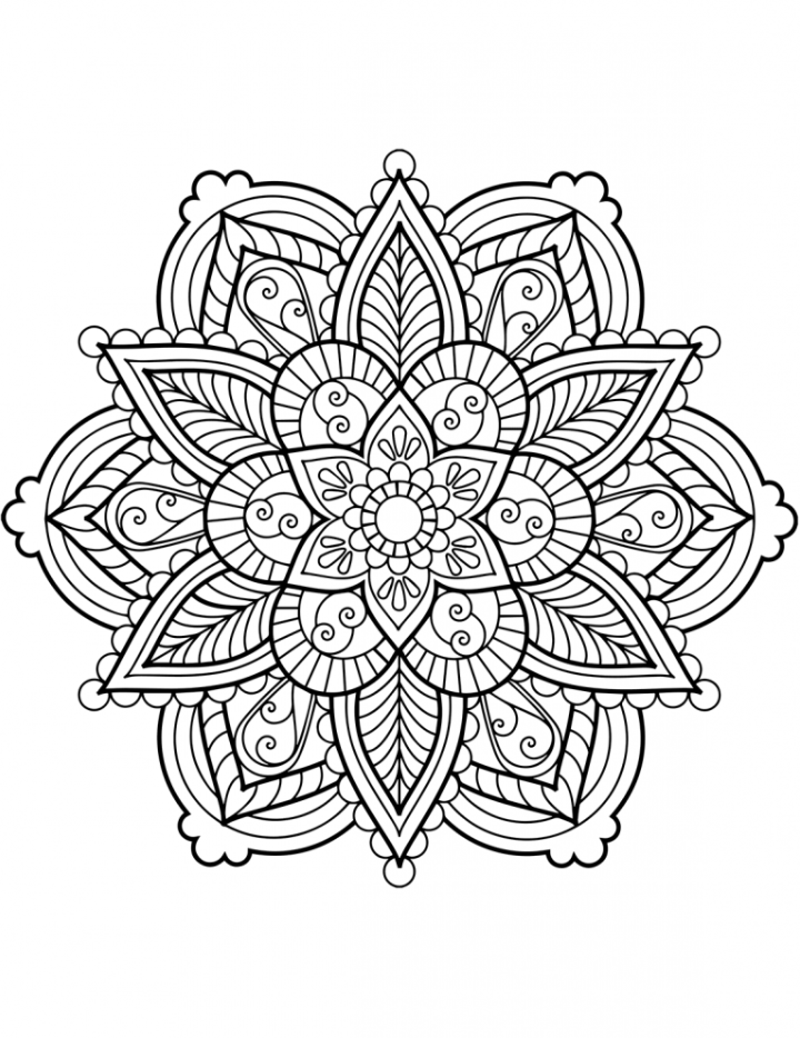 Mandalas ausmalen - Boyama - Malvorlagen Mandala