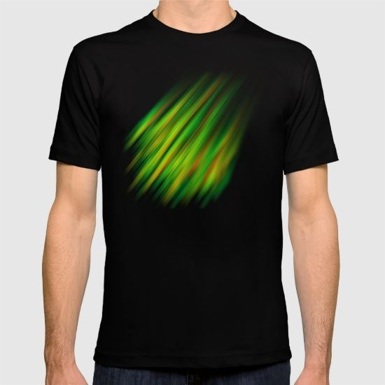 Colorful neon green brush strokes T-shirt by #PLdesign #abstract #neon #green