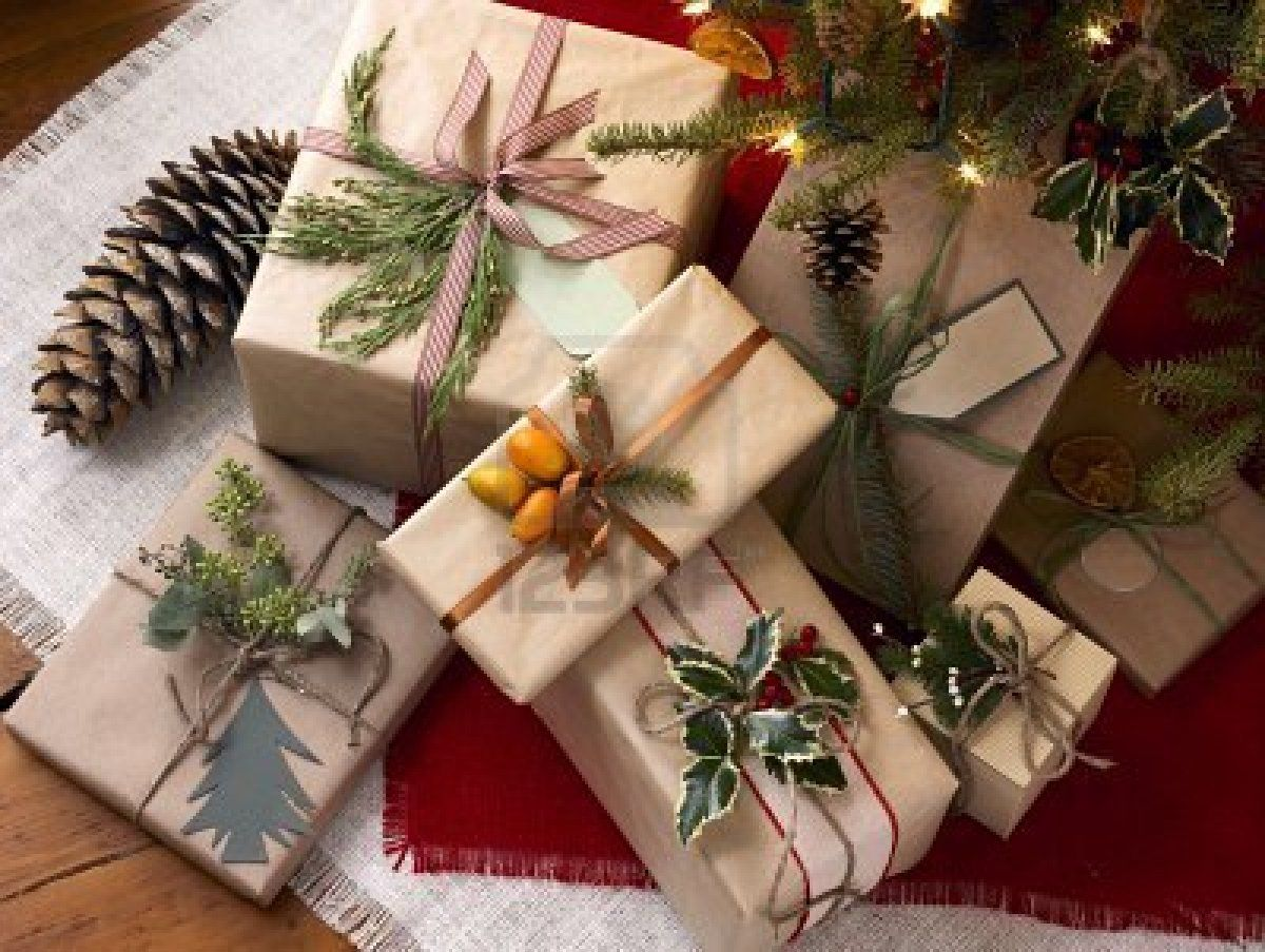 Stock Photo Christmas Gift Wrapping Gift Wrapping Unique