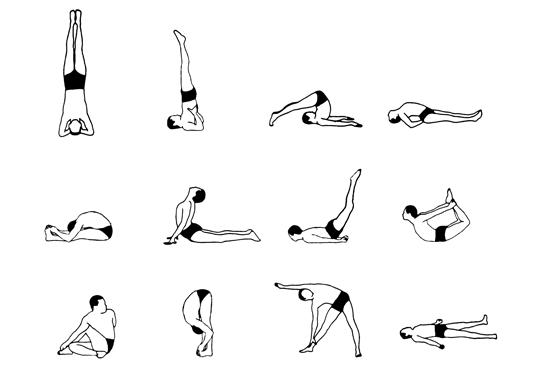 I have started working through these 12 basic asanas, many