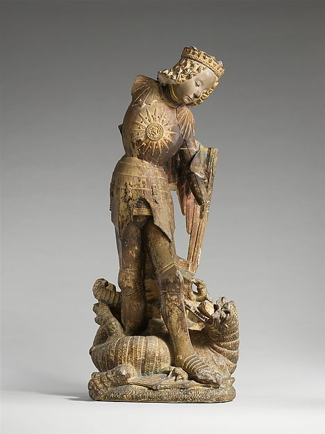 Saint Michael. Date: ca. 1475 Geography: Made in Touraine, French Culture: French Medium: Limestone, traces of paint & gilding