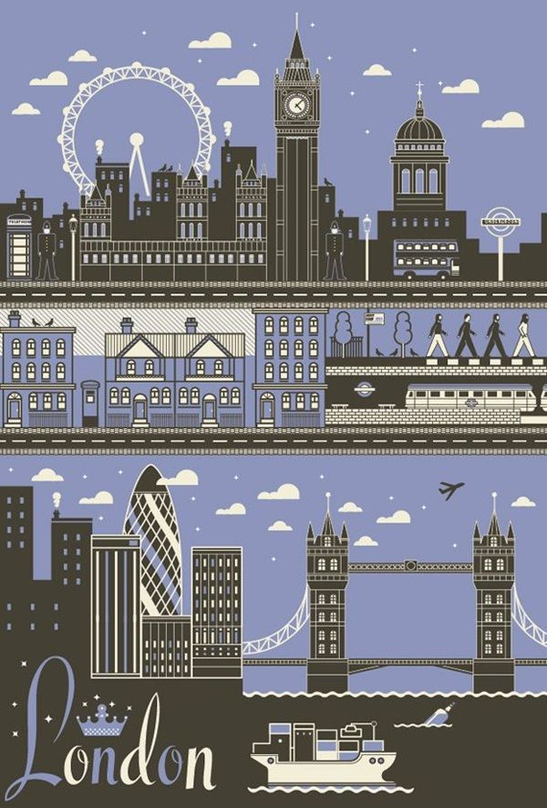 40 Beautiful City Poster Art Examples London Poster Travel