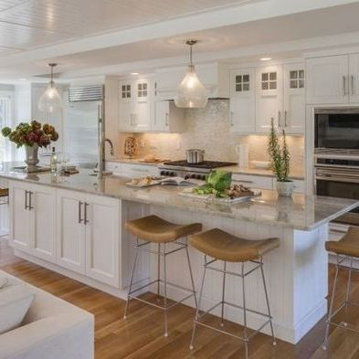 +39 Top Guide of Kitchen Floor Plans with Island Layout Open Concept - apikhome.com #longnarrowkitchen