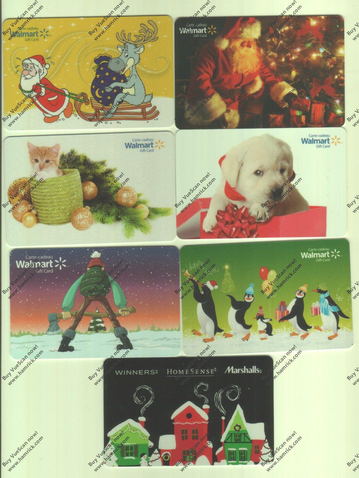 Canada walmart holiday mixed gift card new no value